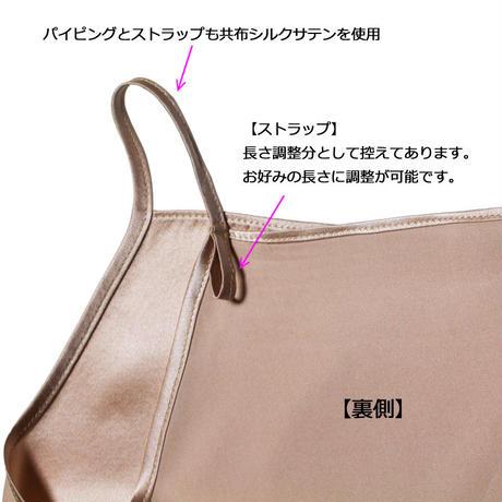 【アウトレット】正絹シルク100% シルクサテン スクエアキャミソール(la sakura)3082【メール便 送料無料】