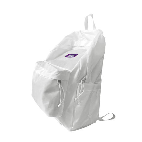 Box Logo Backpack (White)