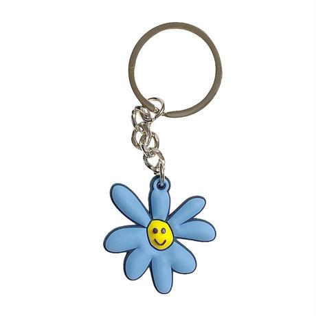 Daisy Rubber Keychain (Carolina Blue)