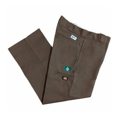 TGL Heart Dickies Double Knee Work Pants (Brown)