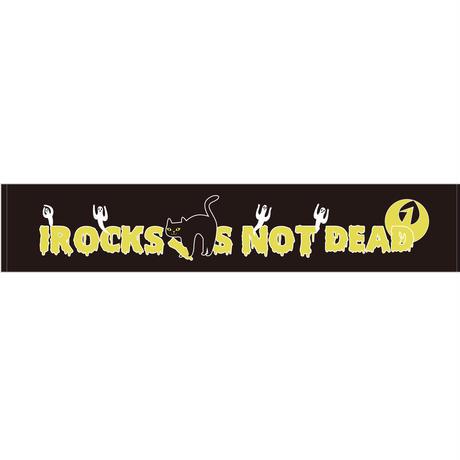 I ROCKS IS NOT DEAD マフラータオル  BK