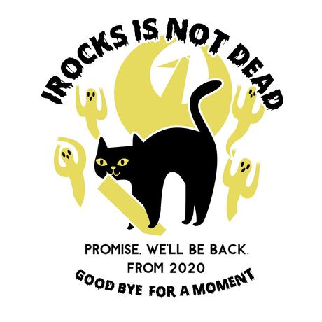 I ROCKS IS NOT DEAD Tシャツ  ホワイト