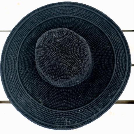 ◆Mon ange Louise◆ SUN HEAD CROCHET(black)手編みの帽子
