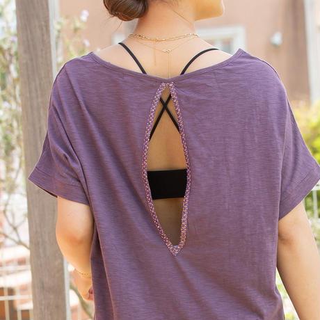 ◆Mon ange Louise◆ CHILL T-SHIRT DRESS ビーチドレス コットンワンピース(purple)