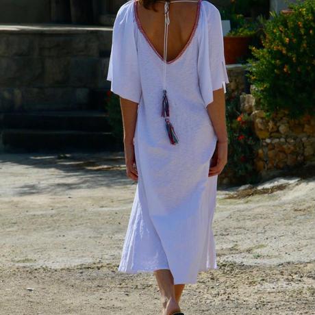 ◆Mon ange Louise◆ CHILL LONG KAFTAN(white)ビーチドレス ワンピース white