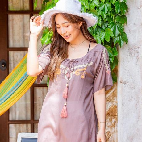 "◆Mon ange Louise◆ SUN HAT ""RUFFLE""(white)手編みの帽子SUN HAT ""RUFFLE"""