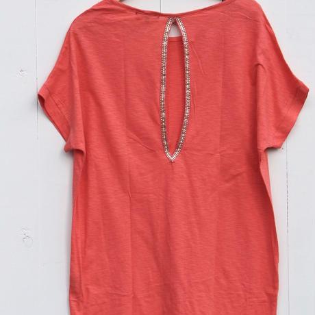 ◆Mon ange Louise◆ CHILL T-SHIRT DRESS ビーチドレス コットンワンピース(coral)