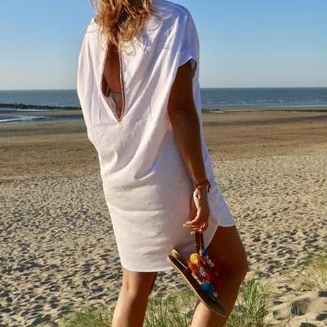 ◆Mon ange Louise◆ CHILL T-SHIRT DRESS ビーチドレス コットンワンピース(white)