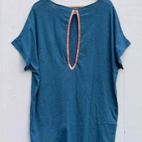 ◆Mon ange Louise◆ CHILL T-SHIRT DRESS ビーチドレス コットンワンピース(eagan blue)