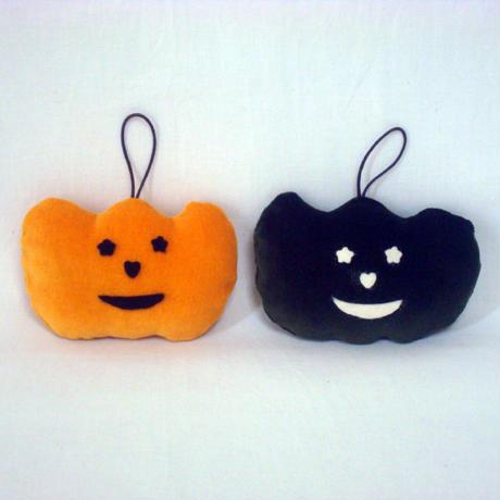 ハロウインサシェ  かぼちゃ  オレンジ  グリーン