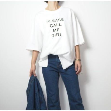 ビッグシルエット エンボスロゴTシャツ
