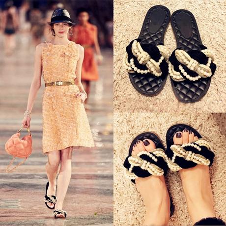 twist beads sandal