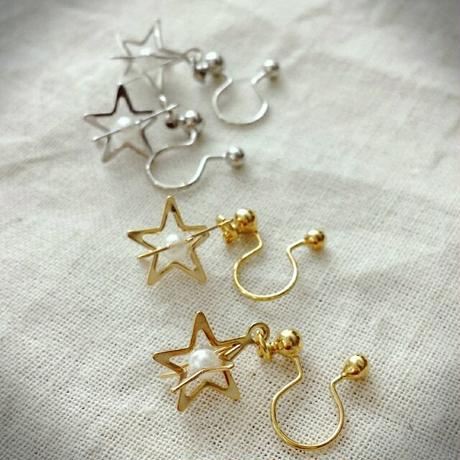 【Lagomt】オリジナルイヤリング<お星さまシリーズ>