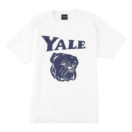 YALE (イェール) Tシャツ メンズ レディース YALE-005 6.2oz ヘビーウエイト ドッグ キャラクター ロゴ オープンエンドTシャツ アメカジ