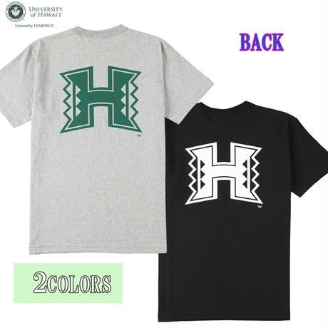 送料無料 HAWAI'I Tシャツ メンズ レディース HWUS-030 6.2oz ヘビーウエイト ハワイ カレッジ ロゴ オープンエンドTシャツ アメカジ