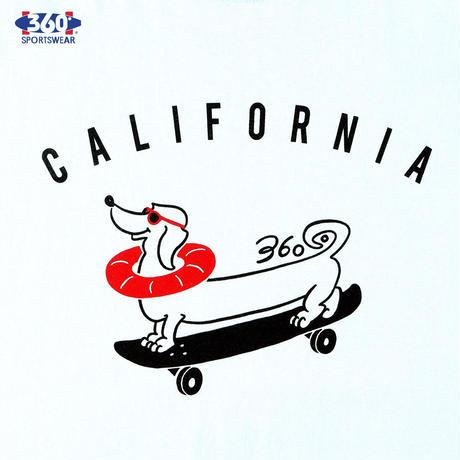 360° SPORTSWEAR (スリーシックスティ スポーツウエア) Tシャツ メンズ レディース THSX-051 6.2oz ヘビーウエイト スケーター 犬 ドッグデザイン 西海岸 アメカジ