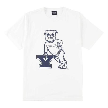 YALE (イェール) Tシャツ メンズ レディース YALE-006 6.2oz ヘビーウエイト ドッグ キャラクター ロゴ オープンエンドTシャツ アメカジ