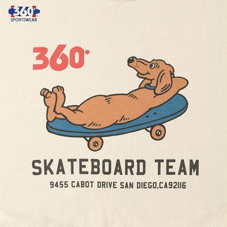 送料無料 SALE 60%OFF 360° SPORTSWEAR (スリーシックスティ スポーツウエア) トレーナー メンズ レディース THSX-064 スウェット スケーター ドッグデザイン