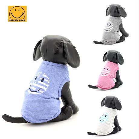 送料無料 SMILEY FACE (スマイリーフェイス) 犬服 Tシャツ ドッグウエア SMFC-003 アメカジ かわいい かっこいい