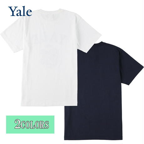 送料無料 YALE (イェール) Tシャツ メンズ レディース YALE-027 6.2oz ヘビーウエイト ドッグ キャラクター ロゴ オープンエンドTシャツ アメカジ