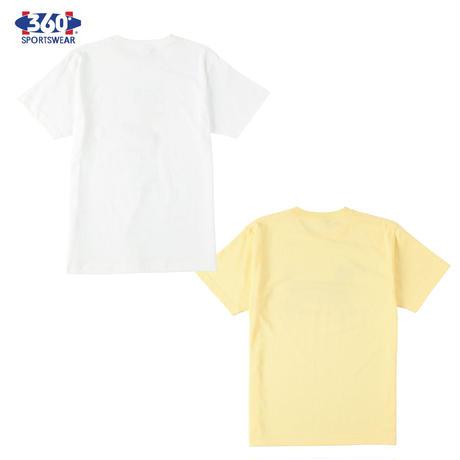 360° SPORTSWEAR (スリーシックスティ スポーツウエア) Tシャツ メンズ レディース THSX-052 6.2oz ヘビーウエイト スケーター 犬 ドッグデザイン 西海岸 アメカジ