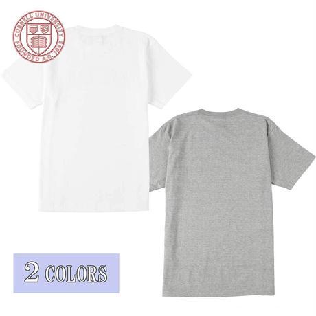 送料無料 CORNELL (コーネル) Tシャツ メンズ レディース CONL-006 6.2oz ヘビーウエイト カレッジ ロゴ オープンエンドTシャツ アメカジ