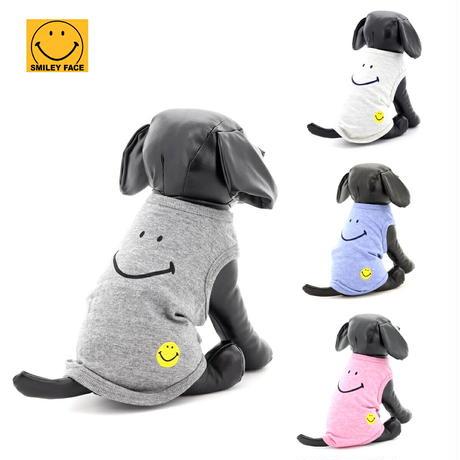 送料無料 SMILEY FACE (スマイリーフェイス) 犬服 Tシャツ ドッグウエア SMFC-005 アメカジ かわいい かっこいい