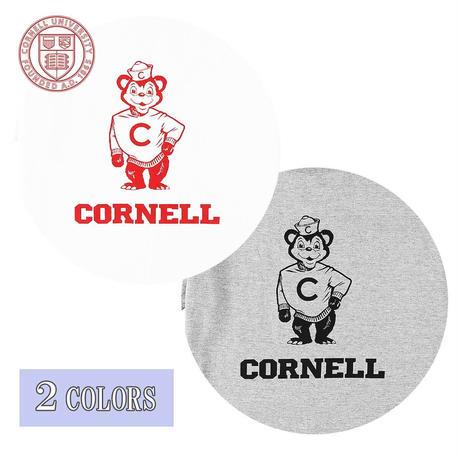 送料無料 CORNELL (コーネル) Tシャツ メンズ レディース CONL-005 6.2oz ヘビーウエイト カレッジ ロゴ オープンエンドTシャツ アメカジ
