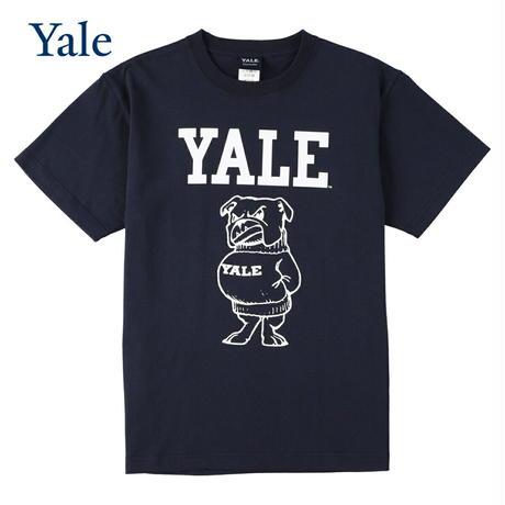 送料無料 YALE (イェール) Tシャツ メンズ レディース YALE-028 6.2oz ヘビーウエイト ドッグ キャラクター ロゴ オープンエンドTシャツ アメカジ