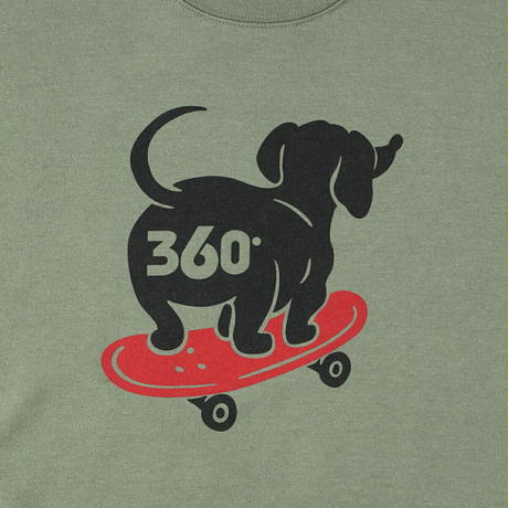 送料無料 SALE 60%OFF 360° SPORTSWEAR (スリーシックスティ スポーツウエア) トレーナー メンズ レディース THSX-065 スウェット スケーター ドッグデザイン
