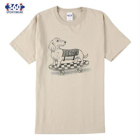 送料無料 SALE 50%OFF 360° SPORTSWEAR (スリーシックスティ スポーツウエア) Tシャツ メンズ レディース THSX-068 ヘビーウエイト スケーター ドッグデザイン