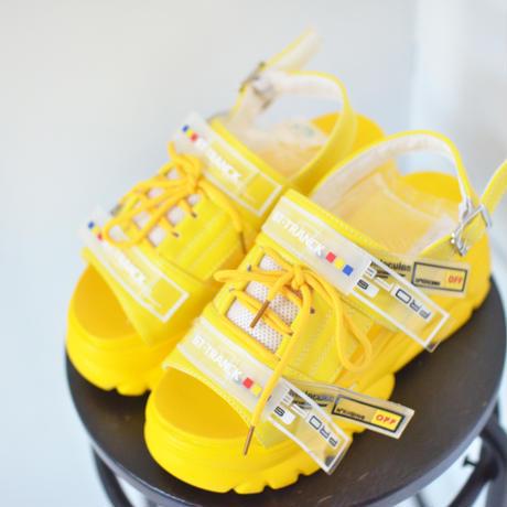 Yellow color 厚底サンダル 24cm
