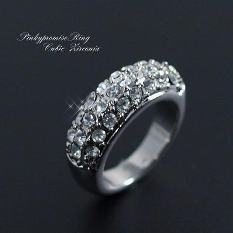 指輪 リング◆小指の指輪 ゴージャスパヴェ ピンキーリング◆SL-1125