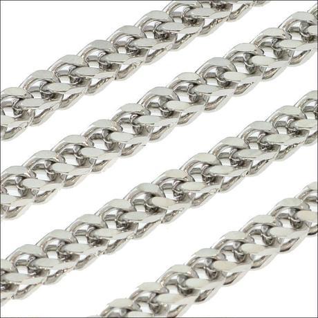 ステンレス ネックレス◆太さ3mm 長さ60cm ボックスキヘイチェーン◆C-1310