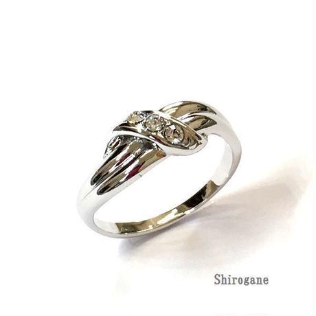 指輪 デザインリング スワロフスキークリスタル使用  sg◆BR-2254