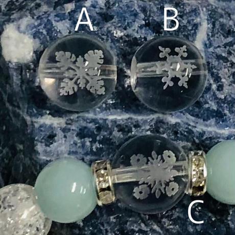 カラマブレスレット  選べる素彫り水晶 / アマゾナイト