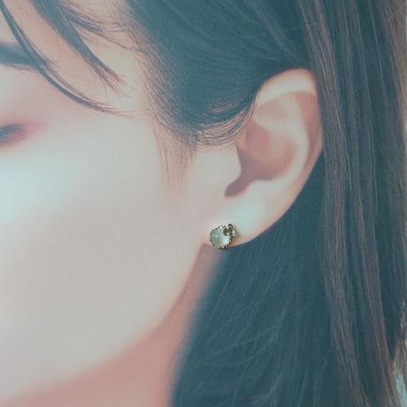 SV(Rh) Earrings ( Moonstone)