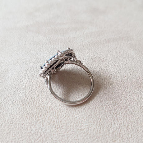 21R54 Silver(Rh) Ring(Stone Cameo/Agate)