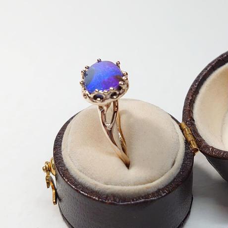 21R80 K10 Ring (Boulder Opal)