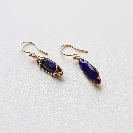 SV(K18Gp) Earrings (Lapis lazuli)