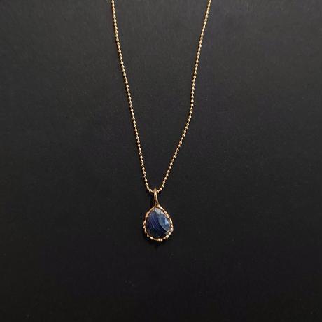 Silver(K18Gp) Necklace (Sapphire)