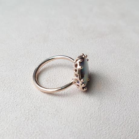 21R47 K10 Ring (Boulder Opal)