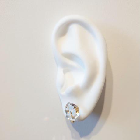 20P98 SV(k18gp) Earrings (Herkimer Quartz)