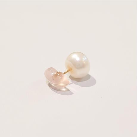21P94/95 K18 Single Earring ( Rosequartz/LIP)
