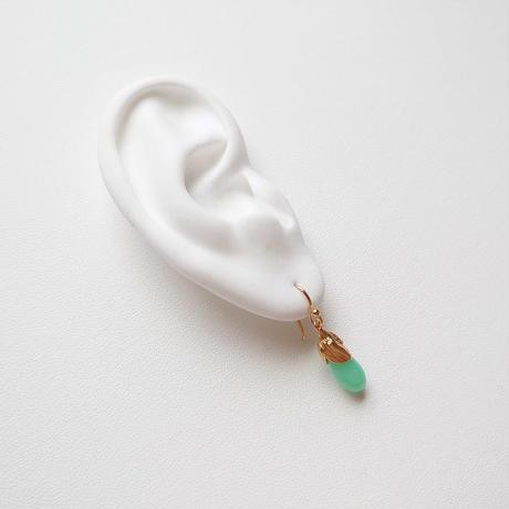 SV(K18Gp) Earrings (Chrysoprase)