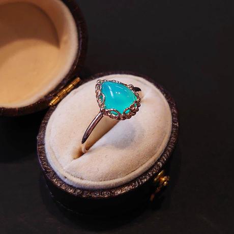 K10 Ring (Sea blue chalcedony)