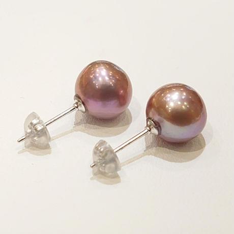 21P72 SV(Rh) Earrings (Freshwater pearl)