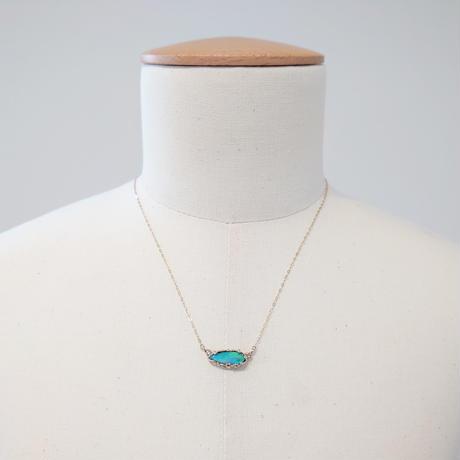 K10 Necklace (Black opal/sahhire)