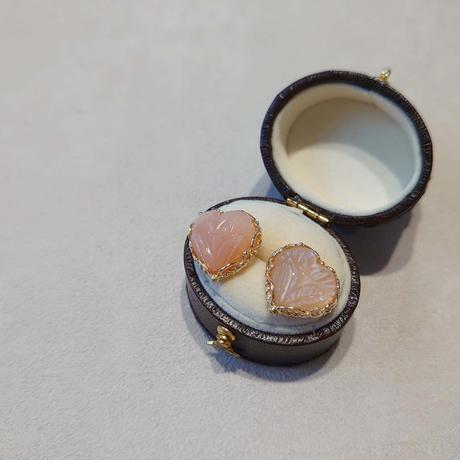 SV(K18Gp) Earrings (Orange Moonstone)