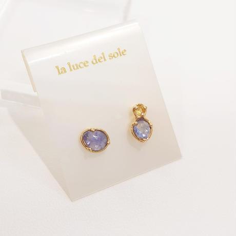 SV(K18Gp) Earrings ( Tanzanite)